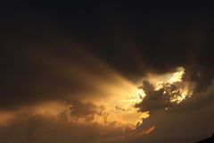 Storm sky sunset. Royalty Free Stock Photo