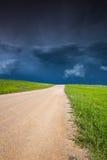 Storm som bygger upp i prärien royaltyfri fotografi
