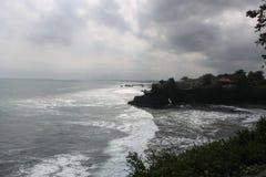 Storm som kommer över det tropiska havet Royaltyfri Bild
