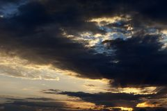 Storm sunrise sky Royalty Free Stock Images