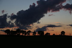 After Storm Sunset Stock Photos