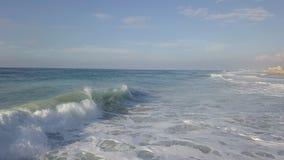Storm surf at mediterrian sea coast of Israel royalty free stock photos