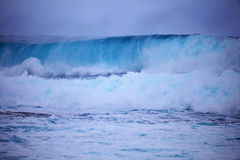 Storm surf surges against Oahu shore Stock Images