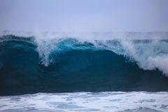 Storm surf surges against Oahu shore. Storm surf from Hurricane Felicia pounds the eastern shore of Oahu the day before the storm arrives Royalty Free Stock Images