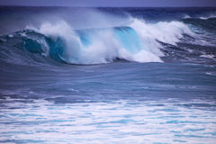 Storm surf surges against Oahu shore. Storm surf from Hurricane Felicia pounds the eastern shore of Oahu the day before the storm arrives Stock Photography