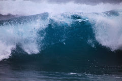 Storm surf surges against Oahu shore Stock Image