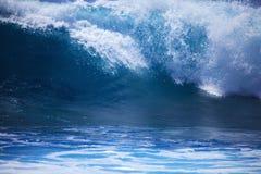 Storm surf surges against Oahu shore Stock Image