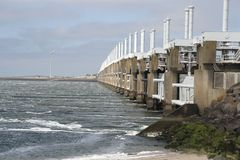 Storm surge barrier Stock Photo