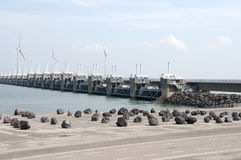 Storm surge barrier in The Netherlands Royalty Free Stock Images