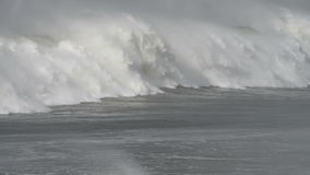 Storm surge, massive wave breaking. stock footage