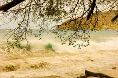 A storm surge in the windward islands Stock Image