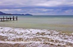 Storm surges of the sea. Crimean coast.  Royalty Free Stock Photos