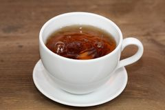 Storm in tea cup stock images