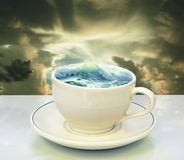 Storm in a teacup royalty free stock image