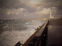 Storm in Tel Aviv, Israel Royalty Free Stock Photography