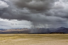 Storm in the Tibet plateau Royalty Free Stock Images