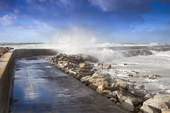 Storm and tide Stock Photography