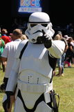 Storm trooper. Pointing at camera Stock Image