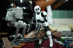 Storm troopers army action figure Royalty Free Stock Photo