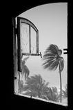 Storm in tropical island Stock Photo