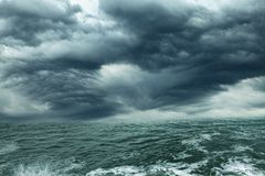 Storm on tthe ocean Royalty Free Stock Photos