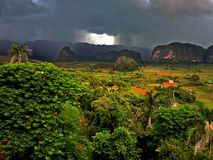 Storm. A storm in a valley Stock Photo
