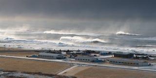 Storm at Vik village, Iceland Royalty Free Stock Images