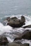 Storm. Vinkar, och havet skummar. Royaltyfria Bilder