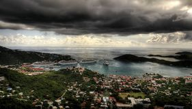 Storm in the virgin island royalty free stock photo
