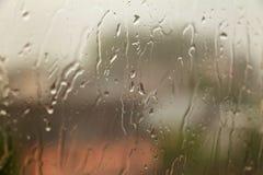 storm Vitrail avec des gouttes de pluie photo stock