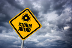 Storm warning sign Stock Image