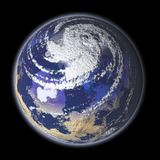 Storm Watch - 3D Rendering of. Computer generated 3D of the earth stock illustration