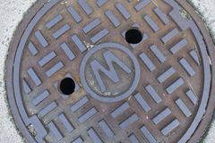 Storm water drain cover. Stock Image