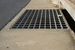 Storm water drain royalty free stock image