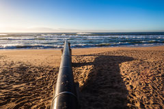 Storm Water Pipe Beach Ocean Royalty Free Stock Photo
