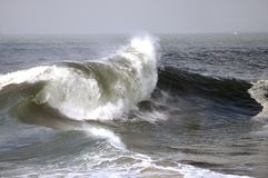Storm Wave. Massive Pacific storm kicking up huge waves along the Southern California Coast Royalty Free Stock Images