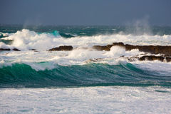 Storm waves Stock Images