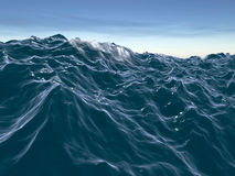 Storm waves. 3d rendering of rough, stormy ocean waves Stock Image