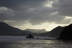 Storm weather  in Indian ocean Stock Photos