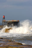 Storm in Whitby Royalty Free Stock Photo