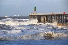 Storm at Whitby Stock Images