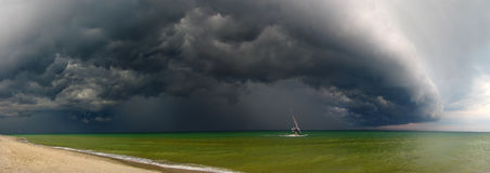 Storm and windsurfer. Stock Photo