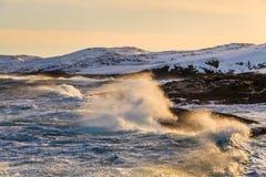 Storm in winter in the Arctic Ocean Stock Photos