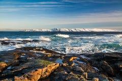 Storm in winter in the Arctic Ocean Stock Images