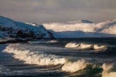 Storm in winter in the Arctic Ocean Stock Image