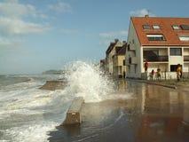 Storm in wissant. Pas-de-calais, france Royalty Free Stock Images