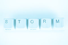 Storm word written with computer buttons Stock Images