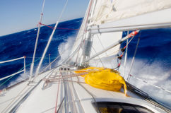 Storm. Yacht under sail in a storm 5-6 Royalty Free Stock Images