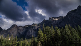 A storm in Yosemite. Time-lapse of a storm entering Yosemite Valley stock video