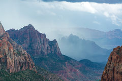 Storm in Zion National Park Royalty Free Stock Photos